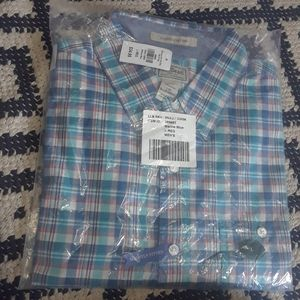 NWT L.L.Bean Men's Button Top Slim Fit **L
